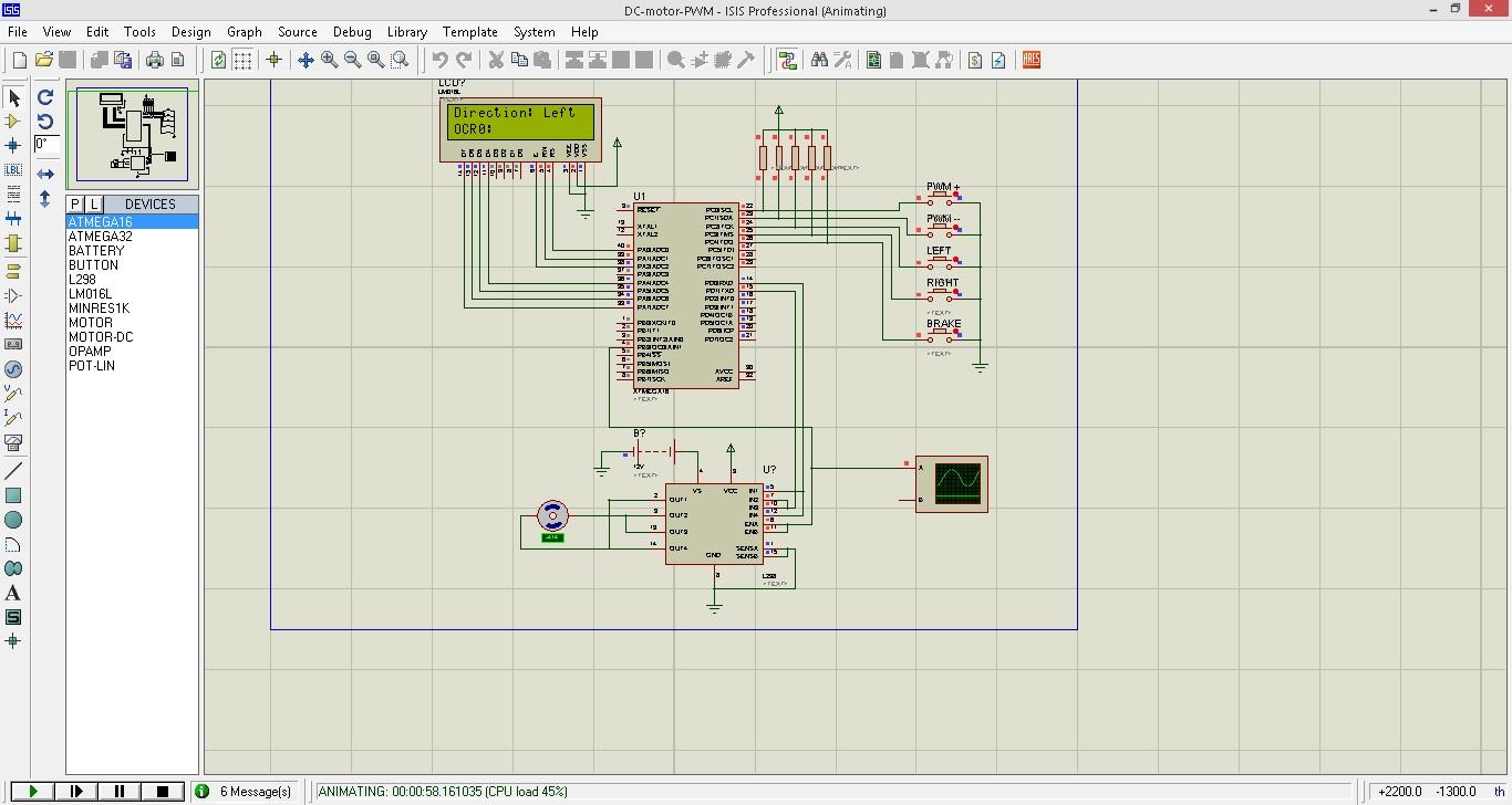 دانلود پروژه کنترل دی سی موتور از طریق pwm