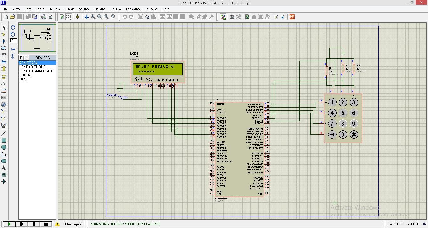پروژه قفل دیجیتال ATmega32