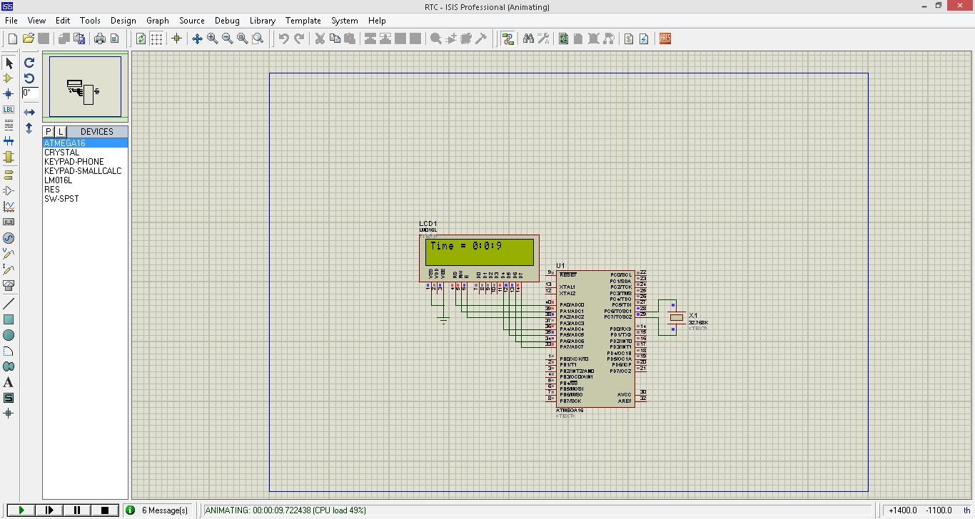 پروژه RTC با میکروکنترلر ATMega16