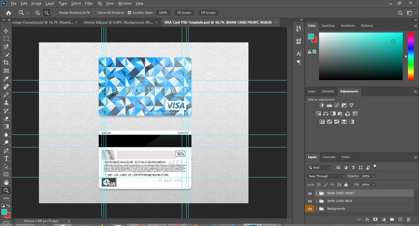 فایل لایه باز ویزا کارت با فرمت psd - لایه باز