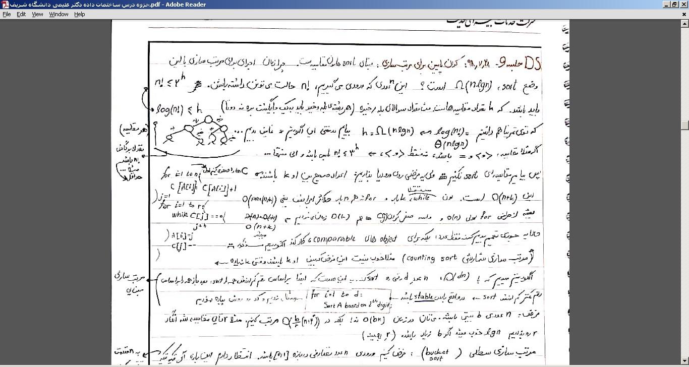 جزوه درس ساختمان داده دکتر علیمی دانشگاه شریف