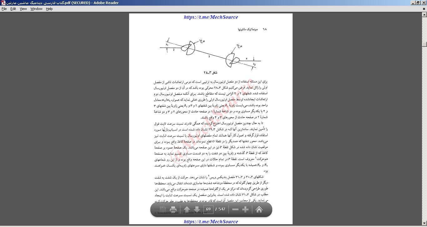 کتاب فارسی دینامیک ماشین مارتین