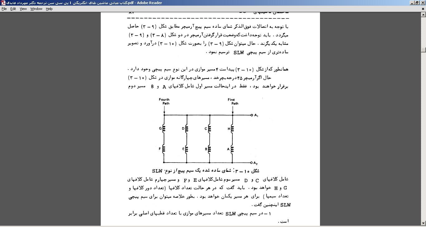 کتاب مبانی ماشین های الکتریکی 1 پی سی سن ترجمه دکتر مهرداد عابدی