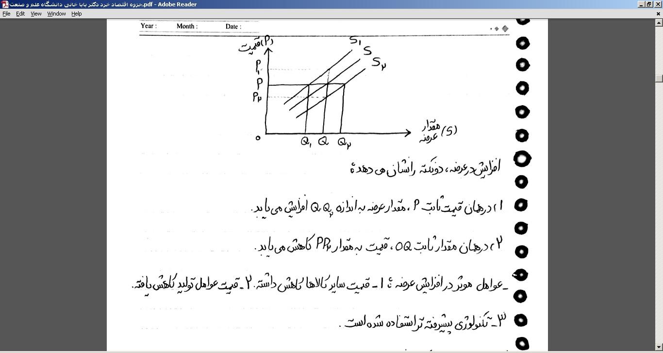 جزوه اقتصاد خرد دکتر بابا خانی دانشگاه علم و صنعت