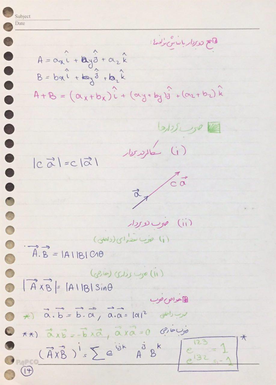 جزوه فیزیک1 استاد ابولحسنی دانشگاه شریف