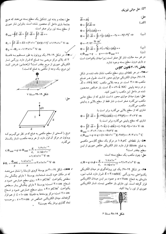 حل المسائل مبانی فیزیک هالیدی جلد دوم