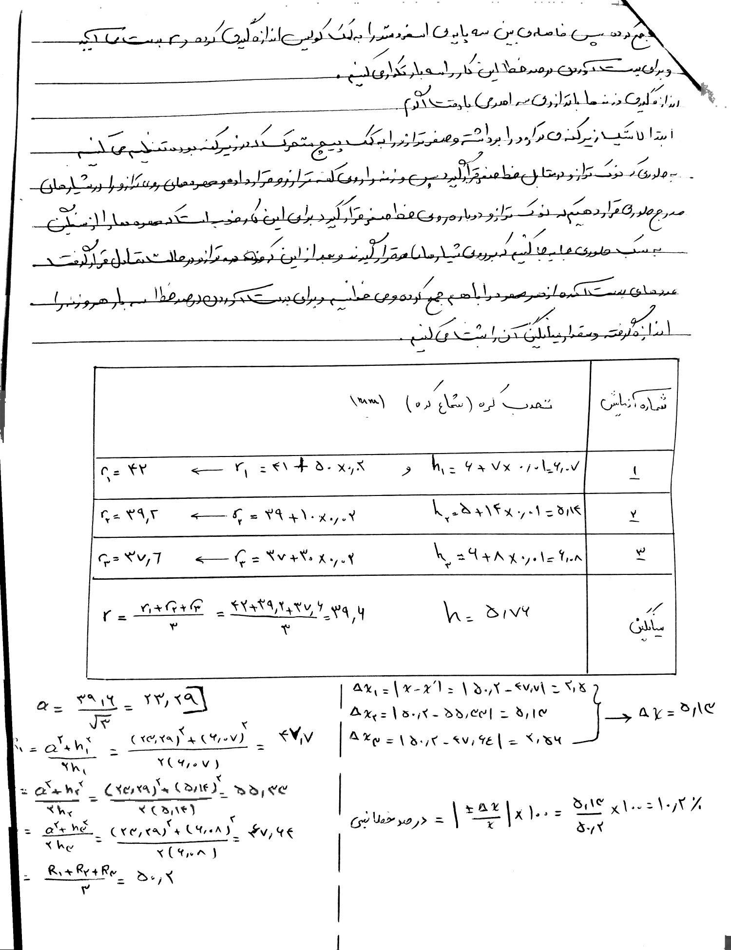 مجموعه گزارش کار های آزمایشگاه فیزیک 1