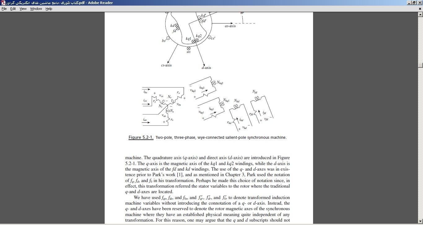کتاب تئوری جامع ماشین های الکتریکی کراوز
