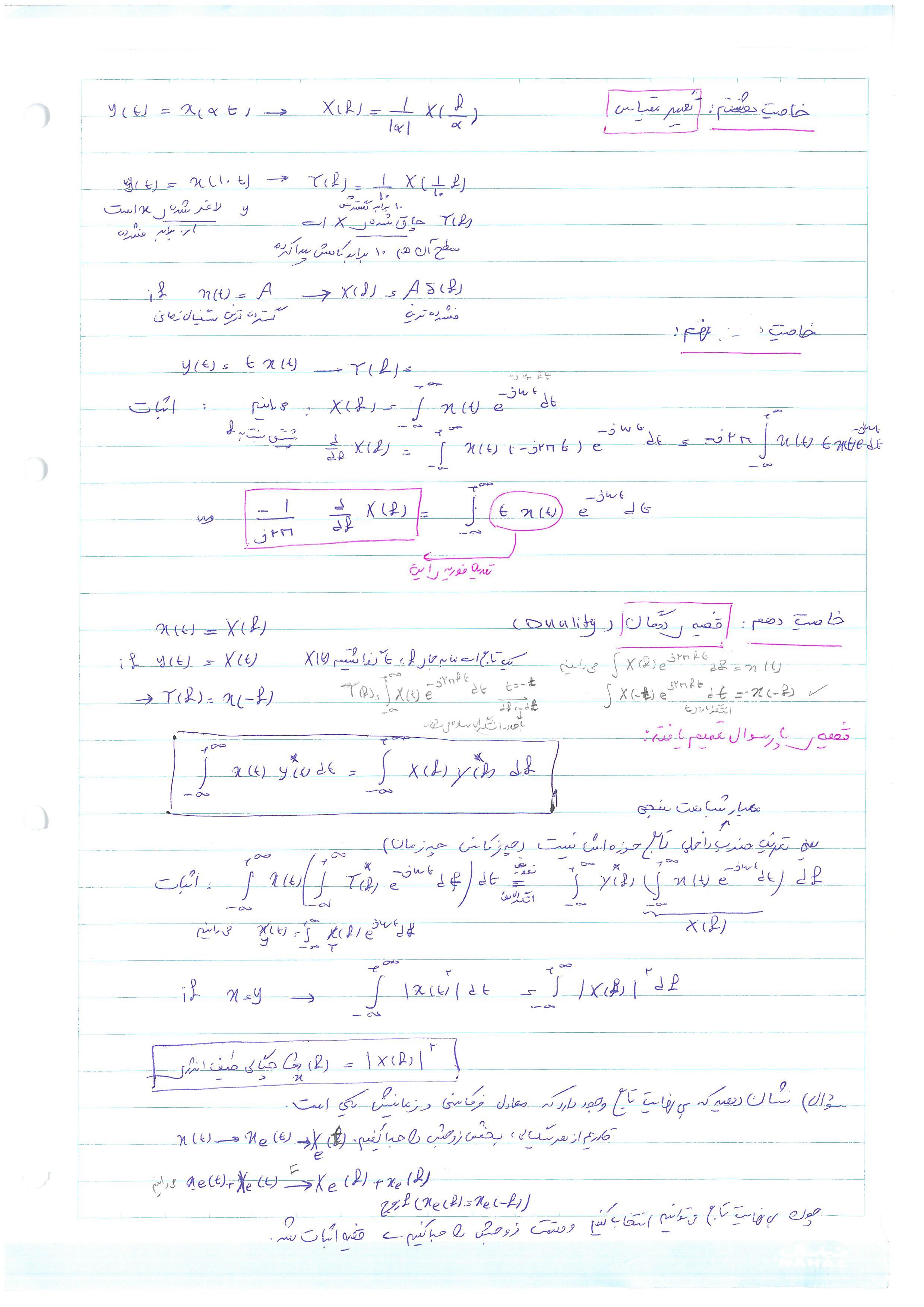 جزوه ی درس سیگنالها و سیستم دانشگاه شریف