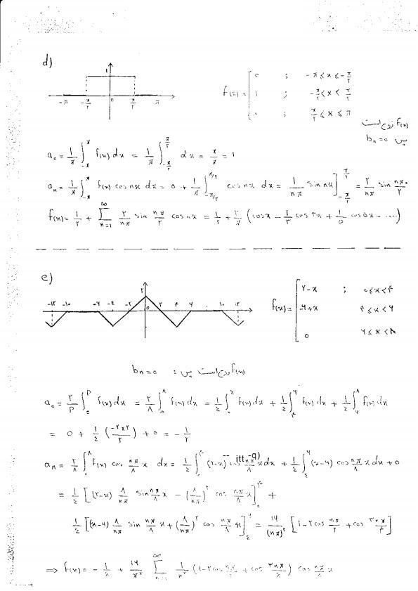 حل مسائل ریاضی مهندسی شیدفر